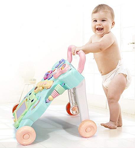 Baby Learning to Walk Multifunktions-Walker zu verhindern Rollover Anti-o-Leg Trolley Buggy Musik Spielzeug (Learning Walker Baby)