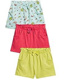 next Niñas Pack De Tres Pantalones Cortos Varios Colores (3 Meses - 6 Años) Corte Estándar