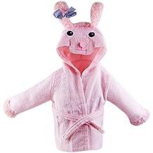 URAQT Bebé Albornoz Algodón, Pijamas Con Capucha De Baño, de Mangas Largas, con Patrón Animale