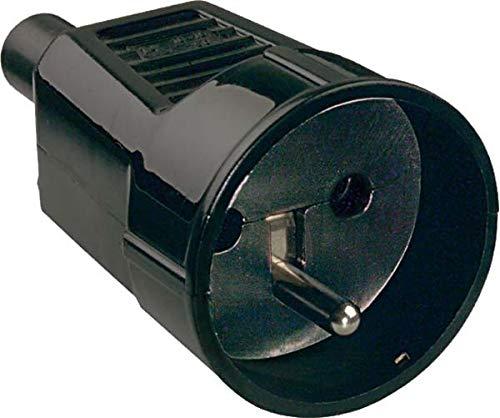 Bachmann 912.173 Schutzkontakt-Kupplung mit Erdungsstift in schwarz