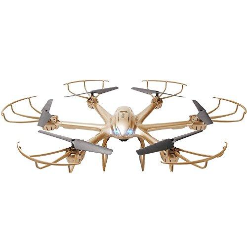 GizmoVine Quadricottero 6 ASSI MJX GYRO X601H 4 Canali. Elicottero RTF Drone RC con Modalità Headless Mode, Funzione Ritorno Automatico One Key a 3D Roll FPV Real-Time Oro