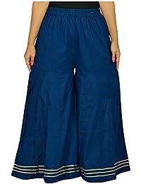 Sahila Creation Women's Cotton Sahara Pant (Navy Blue)
