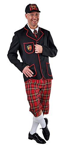 School Kostüm Boy Männer - M215202-S schwarz-rot Herren College Boy Schüler Anzug Gr.S