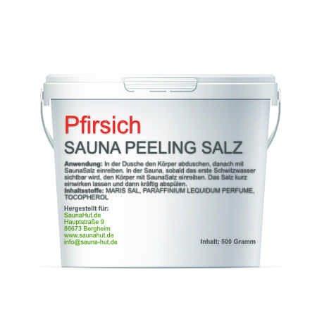 Premium Saunasalz (Salzöl) 500 Gramm Meersalz Peeling mit ÖL | Peeling Salz | Duschsalz | Sauna Salz Peeling | (Pfirsich)