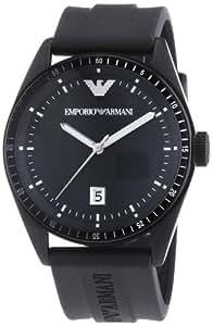 Emporio Armani - AR0683 - Montre Homme - Quartz Analogique - Bracelet Caoutchouc Noir