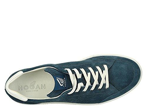Sneakers Hogan baskets homme en daim Azur - Code modèle: HXM1680Q3804VA2AN5 Azur