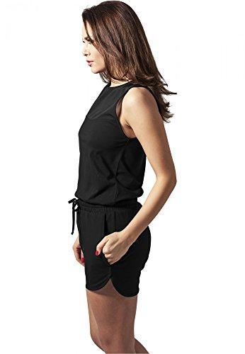 URBAN CLASSICS - Ladies Tech Mesh Hot Jumpsuit (black) Black