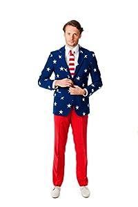 OppoSuits OSUI-0023-EU46 - barras y estrellas - EE.UU. vestuario, tamaño 46, multicolor