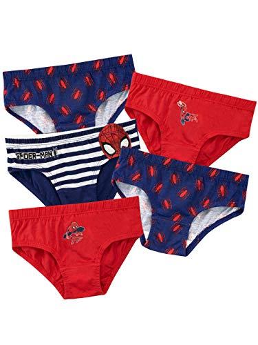 Spiderman Jungen Spider-Man Unterwäsche Packung mit 5 Mehrfarbig 116