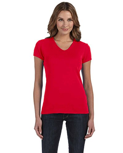 Bella Canvas Damen T-Shirt xl rot - rot (Bella T-shirts Crewneck Baumwolle Damen)