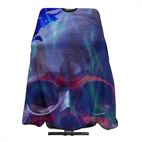 Awesome Skull in Blue Professional Barber Supplies Tool Tie Dye Perfection Cover Cloak Hair Dyed Hair Waterproof Cloth Anti-Static Hairdressing Haircut Apron Hair Dressing Gown Cape (Skull Plaid Kostüm)