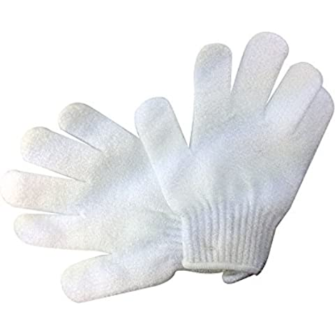 El cuerpo de la cámara darse una capa transparente de exfoliantes de doble mando para baño juego de guantes de trabajo