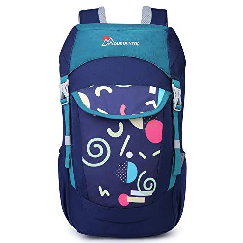 Mountaintop Kinderrucksack Schultasche mit Brustgurt for Outdoor Sport Wandern, 23.5 x 15 x 45cm