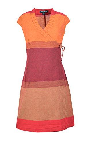 TATTOPANI Damen-Kappen-Hülse Patay-Sari-Baumwollverpackungs-Kleid-Abend-Cholo-Kleid (NTD-57-MULTIS)