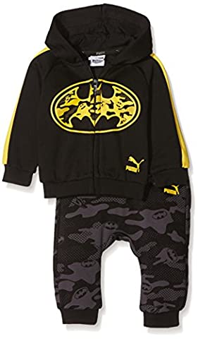 PUMA Jungen Justice League Hooded Jogger Trainingsanzug, Cotton Black, 68