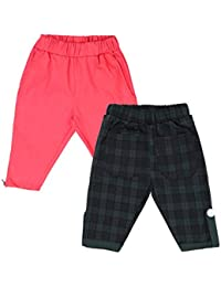 Lil Orchids Girls Pack of 2 Casual Knee Length Pant(LO-2PCK-WVN-CPR-CMB-6)