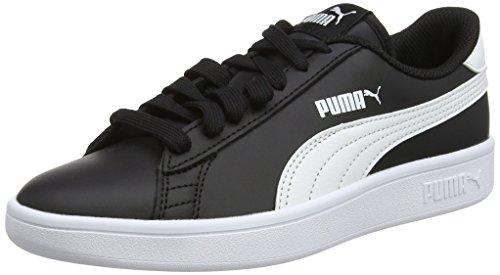 Puma Unisex-Kinder Smash V2 L Jr Sneaker, Schwarz Black-White, 37 EU
