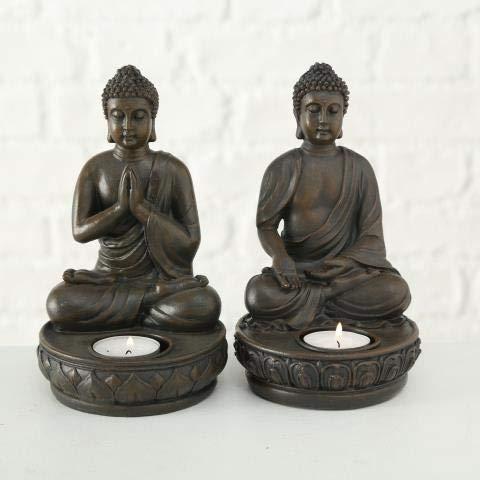 Buddha Teelichthalter im 2er Set je 19 cm - 3