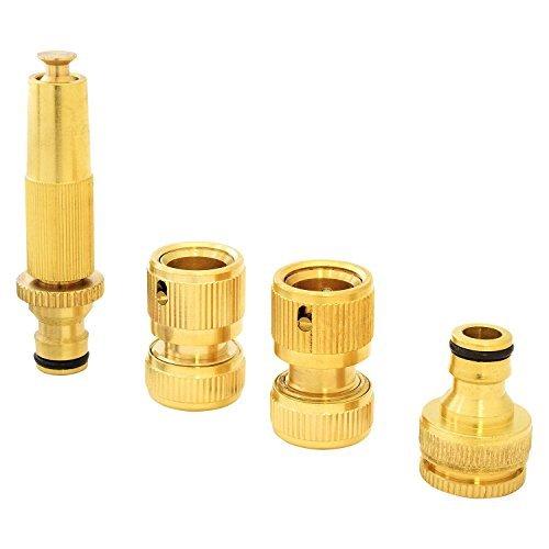 parkland-4pc-brass-hose-pipe-fitting-set-garden-tap-hosepipe-quick-connectors-spray-nozzle