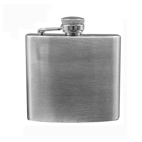 Minkoll Weinflasche Flaschen, Edelstahl 4oz Speichern Vodka Whiskey Alkohol Pocket Weinflasche