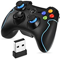 2.4G Wireless Controller da Gioco, Supporta PC (Windows XP / 7/8 / 8.1 / 10) e PS3 Android Vista Decoder per la TV Gioco Portatili Joystick EasySMX [windows]…
