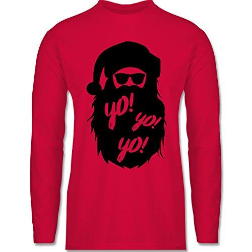 Weihnachten & Silvester - Yo Santa - Longsleeve / langärmeliges T-Shirt für Herren Rot