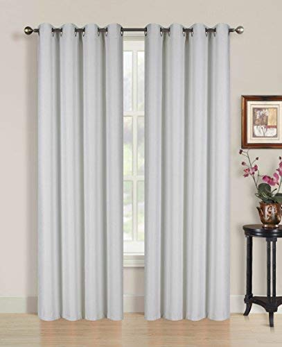 All American Collection New 2Panel Solid Jacquard Blackout Vorhang Set, Polyester-Mischgewebe, beige, 84