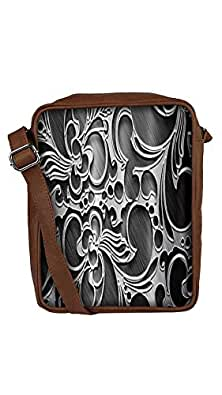 Snoogg Abstract Grey Design Sling Bags Crossbody Backpack Chest Day Pack Travel Bag Book Bag For Men & Women