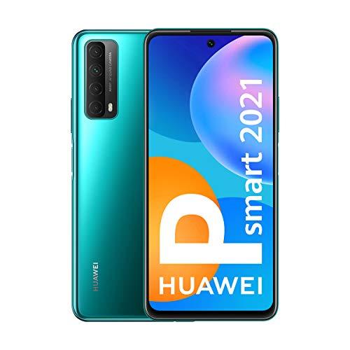 Oferta de HUAWEI P Smart 2021 - Smartphone de 6,67 Pulgadas Full HD, 4GB de RAM y 128 GB de ROM, 22.5W HUAWEI Supercharge, 5000 mAh de batería, Cuádruple cámara 48 MP, Verde [Versión ES/PT]