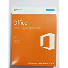 Office Hogar y Estudiantes 2016 - 1 licencia para PC   Windows 10 Windows 8 Windows 7  