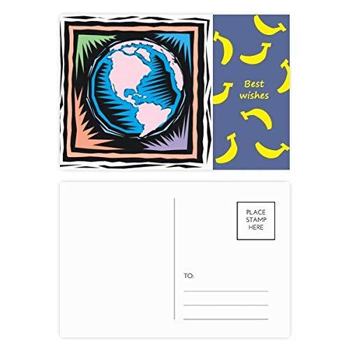 DIYthinker Mysterious Blau Earth mexikanische Element Stich Banana Postkartenset dankt Karte Mailing Side 20pcs 5.7 Zoll x 3.8 Zoll Mehrfarbig -
