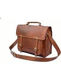 Crafat Vintage Genuine Leather Office Men's Laptop Messenger Bag (11x15) - Men