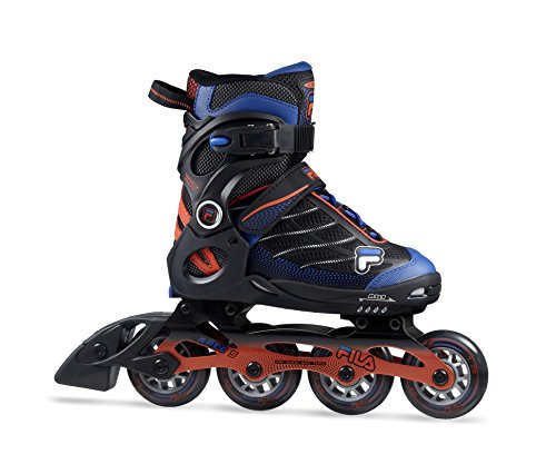 Fila Jungen Wizy Alu Inline Skate, schwarz/Rot/Blau, 38-41 -