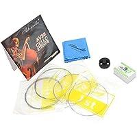 Dilwe 4 en 1 Kits de Violonchelo, Violonchelo Cuerdas Violonchelo Práctica de Violín Mudo Paño de Limpieza Accesorio de Instrumento
