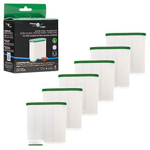 FilterLogic CFL-903B | 6er Pack Wasserfilter kompatibel mit Philips AquaClean CA6903/10 CA6903/22 CA6903 Kalkfilter, Aqua Clean Filterpatrone für Kaffeevollautomat