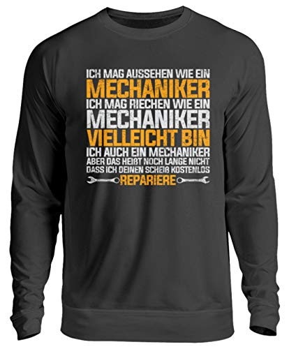 Chorchester Für Alle Mechaniker und Mechanik Fans - Unisex Pullover -3XL-Jet Schwarz