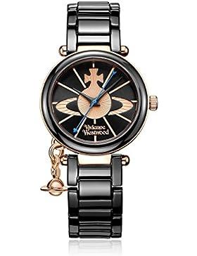 Vivienne Westwood Damen Armbanduhr Kensington Analog Keramik schwarz VV067RSBK