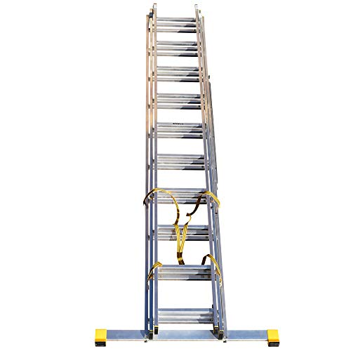6.26m Trade Master 3 Section Extension Ladder/Ladders with Integral Stabiliser