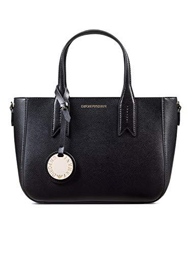 Emporio Armani Twin Handle Damen Handtasche Schwarz