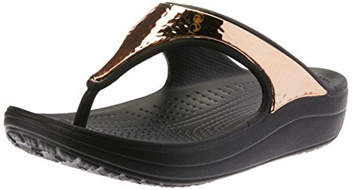 crocs Sloane Hammered Metallic Flips W