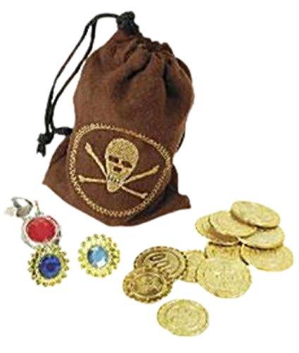 erdbeerloft - Karneval Kostüm Accessoire Piraten Schatz, Gold (Schatz Kostüme)