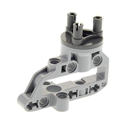 Bausteine gebraucht 1 x Lego Technic Rad Lenk Achs Rahmen Aufhängung hell grau Technik dunkel grau Radnabe 9398 76023 42030 92909 92908c01