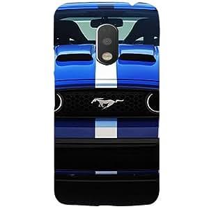 BetaDesign Cars Back Cover, Designer Cover for Motorola Moto G4 (Multicolor)