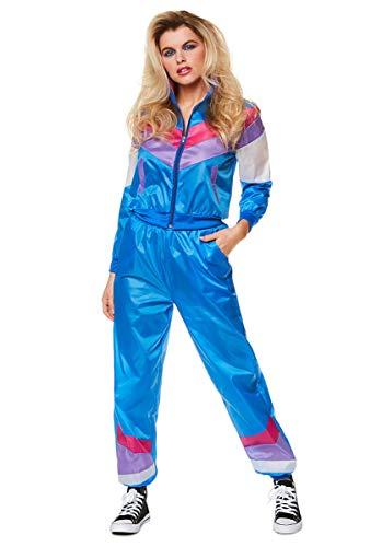 Karnival 813311980Damen Shell Suit Kostüm, Frauen, blau, mittel