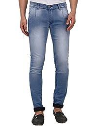 JUGEND Light Blue Stretchable Slim Fit Men's Jeans