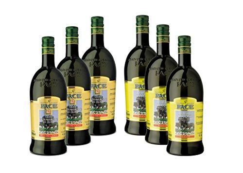Confezione mista olio extravergine di oliva - 3 bottiglie da 1 lt. di olio extravergine di oliva fruttato e dolce, 3 bottiglie da 1 lt. di olio di oliva delicato