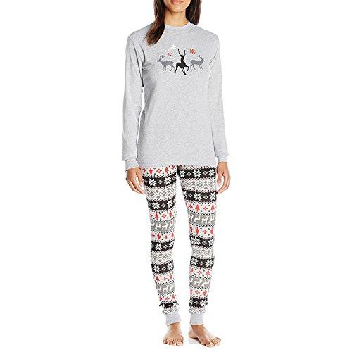 a32948b86f Juleya Christmas Pajamas Family Matching Clothes Sets Sleepwear Set Grey  M-Woman - Buy Online in Oman.