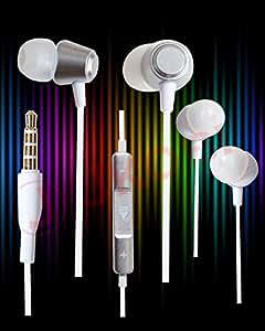 Jkobi Ear Fit In Ear Buds Metal Volume Control Earphones Handsfree Compatible For Panasonic Eluga Switch -Silver