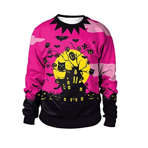 YaXuan Halloween Kostüme Mode Paare 3D Lose Pullover Sweatshirts Cosplay Wilde Drucke Halloween Für Männer Frauen (Farbe : 1, Größe : M)