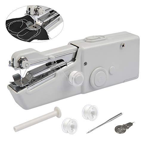 FOCCTS Mini Máquina de Coser Manual-Viaje Portátil Costura Profesional Herramienta de Puntada de Costura Rápida para Ropa de Tela